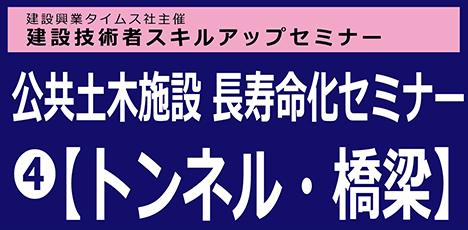 公共土木施設 長寿命化セミナー(4)【橋梁・トンネル】